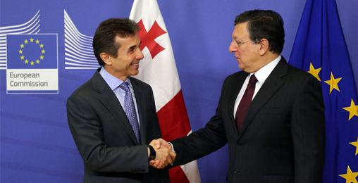 საქართველოს პრემიერ-მინისტრი ბიძინა ივანიშვილი ევროკომიის პრეზიდენტს ჟოზე მანუელ ბაროზოს შეხვდა