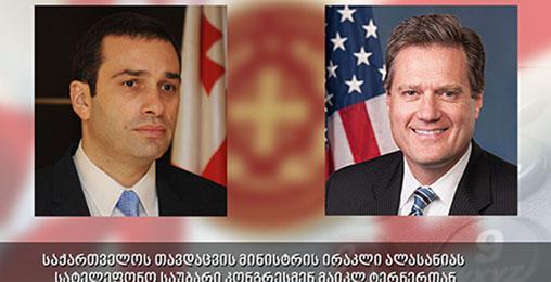 ირაკლი ალასანიამ ამერიკელ კონგრესმენს მხარდაჭერისთვის მადლობა გადაუხადა