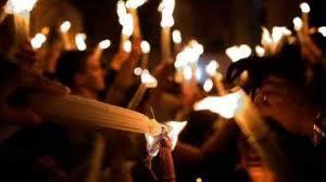 წმინდა ცეცხლს თბილისში 23:35 საათზე ჩამოაბრძანებენ