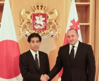 საქართველოს პრეზიდენტი იაპონიის პრემიერ-მინისტრის წარმომადგენელს შეხვდა