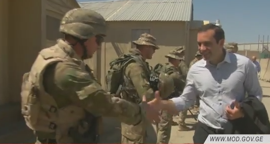 ავღანეთის დედაქალაქ ქაბულში დისლოცირებული ქართველი სამხედროები ამერიკულ ბაზა