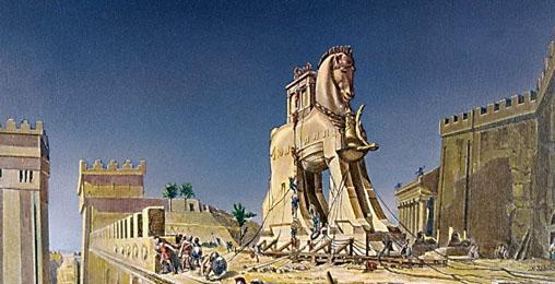"""""""ტროას ცხენის"""" ლუსტრირებული მექანიზმი"""