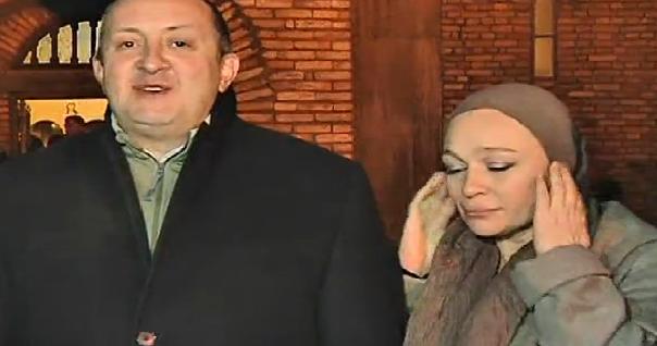 საქართველოს პრეზიდენტი შობის დღესასწაულს დუშეთში, წმინდა ნიკოლოზის ეკლესიაში შეხვდა