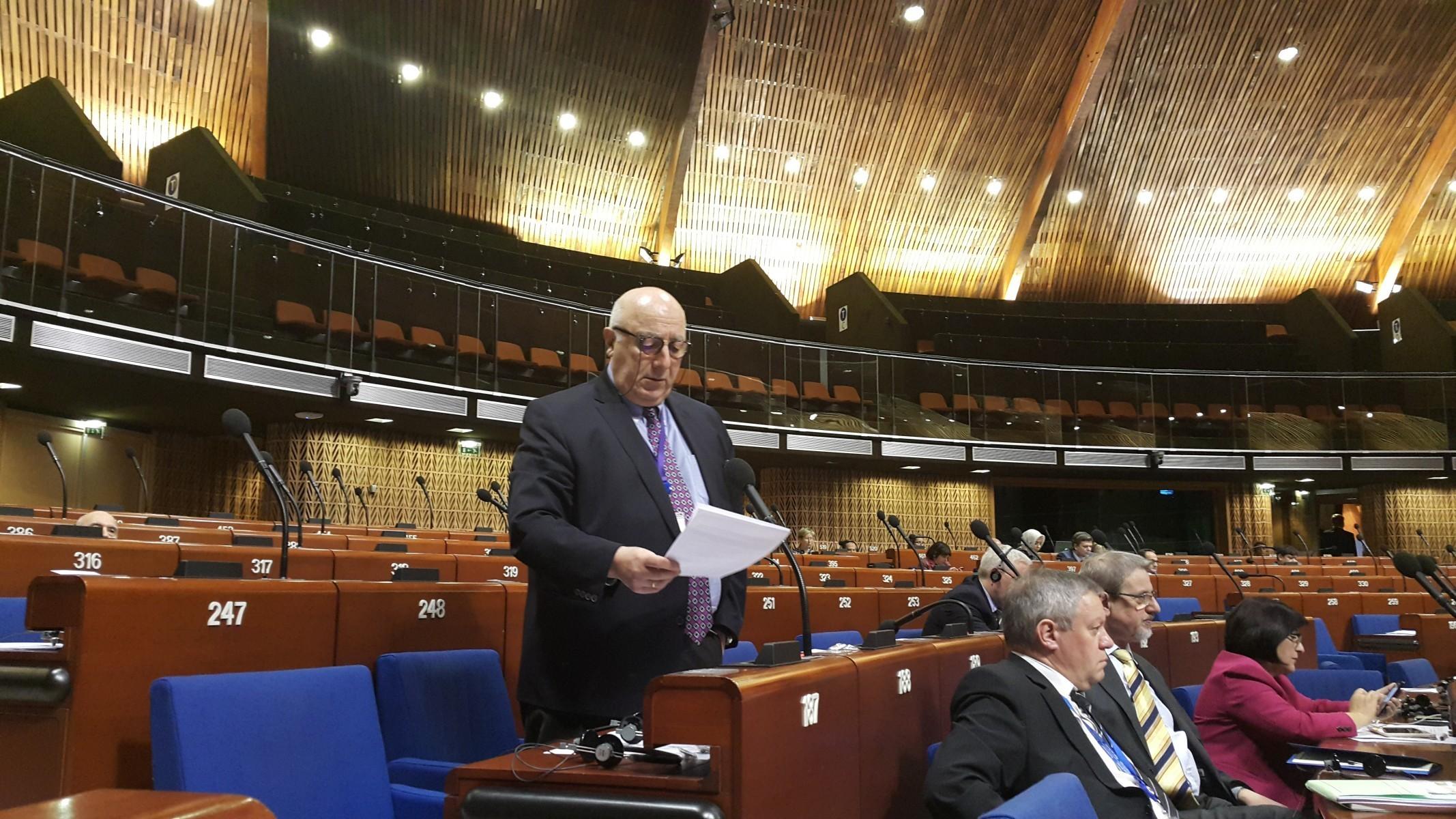 საქართველოს პარლამენტი ევროპის საბჭოს საპარლამენტო ასამბლეაზე, თედო ჯაფარიძის გამოსვლის ტექსტს აქვეყნებს
