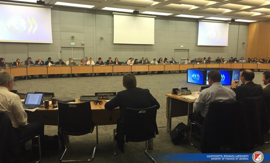 OECD ფისკალურ საქმეთა კომიტეტის სხდომას, ფინანსთა მინისტრის მოადგილეები დაესწრნენ